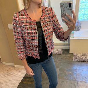 Milly Crop Tweed Jacket - size 4